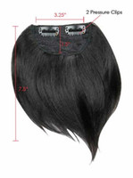 Wholesale Side Swept Hair Fringe human hair made Hair Extensions Accessories different color is available color