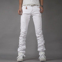 White Denim Jeans Mens - Jon Jean