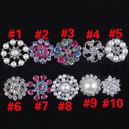 Wholesale Children Hair Accessories Clear Crystal Rhinestones Buttons For Embellishment Hair Flower Accessories