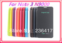 For Samsung Metal Yes Hotsale New12 Color Back Cover Flip Leather Case Battery Housing Case For Samsung Galaxy Note 3 Note3 Note III N9000 N9005 N9006