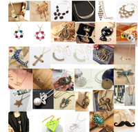 Wholesale Women Fashion jewelry Mixed Style Vintage Retro Necklaces Pendants Style