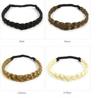 Wholesale Braided Plaited Hair Headband fashion hair wear brand new Wigs Accessories four color available