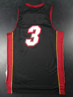 Basketball Men Sleeveless Top Quality ! Men's Revolution 30 Swingman Basketball Jerseys Miami #3 Dwyane Wade Red Black White Embroidery Logo With Name Mix Order