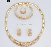 Bracelet,Earrings & Necklace Celtic Gift New Wholesale -2014 Chinese style 18K Gold Plated Vintage Jewelry Chunky Necklace Chain and Bangle Set Designer Jewelry Free Shipping