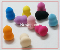 Wholesale 100pcs Latex Free Pro Beauty Makeup Blender Cosmetic Powder Puff D Bottle Gourd Sponge Flawless Smooth Will Get Larger After Watering
