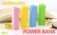 Universal Direct Chargers  Wholesale - 2600mAh Power bank 2600mAh USB Power Bank Portable External Battery Charger for iphone5 4S 4 3G Samsung galaxy battery charger01