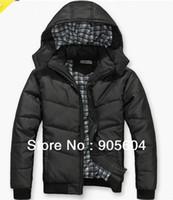 Coats Men Polyester High Quality! 2014 Fashion Mens Winter Warm Hoodie Hoodey Coat Parka Winter Coat Outwear Down Men's Clothing Coat