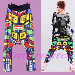 Wholesale 2015 Fashion Women s Casual Tribal Totem Baggy Harem pants Dance Sports SweatPants Loose Trousers Hip Hop Girls Ladies Woman s Slacks New