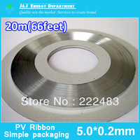 5.0*0.2mm solder wire - 5 mm mm Meter Feet Bus Wire For Solar Cell Solar Panel Solar Wire PV Ribbon PV Solder Wire