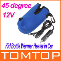 Wholesale Freeshipping V Universal Travel Baby Kid Bottle Warmer Heater in Car Blue Dropshipping