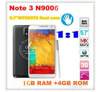 Wholesale MTK6582 Note N9006 Quad Core GHz android phone with inch FHD Screen MP Camera G GPS Smartphone