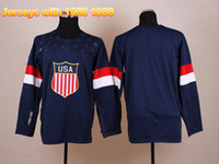 Ice Hockey Men Full Customization Jersey 2014 Olympic Winter Hockey Jersey Sochi Hockey Jersey Navy Blue USA Jersey Stitched Men Jerseys Hot Sale Jerseys