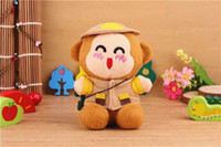 Universal Emergency Chargers  100 pcs Plush monkey toy mobile power 2200 mah portable emergency charger very lovely power bank for iphone ipad all the cellphones.