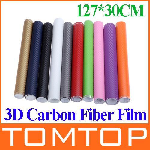 127 30cm 3d Carbon Fiber Film Vinyl Sticker Car Body
