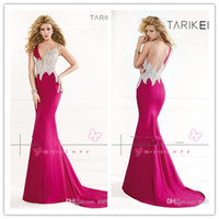 Reference Images One-Shoulder Satin 2014 Real pictures Tarik Ediz Formal Evening Dresses Sexy One Shoulder Crystals Satin Mermaid Backless Vingate Prom Pageant Gowns