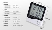 Wholesale LCD Digital Temperature amp Humidity Meter Thermometer Hygrometer HTC Clock White