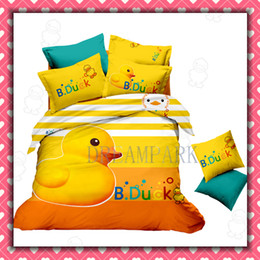 Wholesale B DUCK Single Bedding Set Cartoon Cotton children Kids Bed