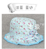 Wholesale 2014 baby flower sun hat beach hat candy colour cotton hat fit for months girl boy hat colour mixed EMS FREE