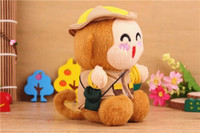 Emergency Chargers   5pcs lot 2200 mAh Power Bank Plush Monkey Mobile Power Portale Mini External Battery Mini Cute Monkey Emergency power Bank free shipping