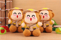 Emergency Chargers   10pcs lot 2200 mAh Power Bank Plush Monkey Mobile Power Portale Mini External Battery Mini Cute Monkey Emergency power Bank free shipping