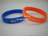 Wholesale NUT ALLERGY Medical ID Alert Bracelet Silicon Wristband Colour Youth Size