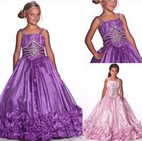 al por mayor vestidos del desfile de 11 años-La flor de la vendimia modesta viste los vestidos de partido de cumpleaños encantadores de los cabritos 10 años de vestidos del desfile dhyz 03