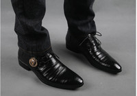 Wholesale Hot sale new style men s leather shoes party shoes wedding shoes lace up shoes groom leather shoes QE159