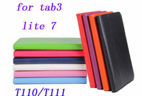 Wholesale New Folio PU Stand Leather Case Cover For Samsung GALAXY Tab Lite T111 T110 Tablet PC
