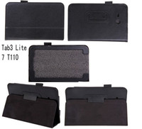 Wholesale Leather Case For Samsung Galaxy Tab Lite T110 Tablet PC Folio Stand