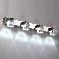 Wholesale Modern Luxury Powerful Bright LED Crystal Bathroom Wall lamp Bright Mirror Front wall light Wall Sconces washroom wall lamp