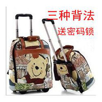 Wholesale The new Winnie the Pooh trolley bag bag female bag large capacity luggage trolley luggage bag