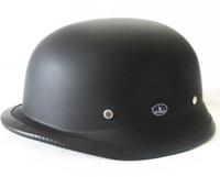 Blacks german helmets - CHROME MIRROR German military helmet DOT Approved open face Motorcycle helmet Chopper Cruiser helmets