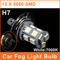 Wholesale H7 LED Car SMD Foglights W V White Lamp Auto Headlight Bulbs FL0070