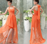 advance chart - Cheap Low high Halter Neck Bridesmaid Dresses Advanced Chiffon Beach All Colors Available Spring Summer A Line Long Formal Gowns CGL118