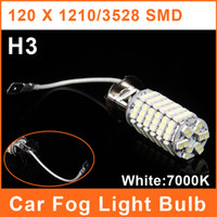 Wholesale H3 LED Car SMD Foglights W V White Lamp Auto Headlight Bulbs Daytime Running Light FL0002