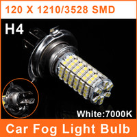 Wholesale H4 LED Car SMD Foglights W V White Lamp Auto Headlight Bulbs Daytime Running Light FL0003