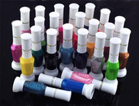 Wholesale whosale colors way nail art polish with brush pen varnish