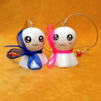 Wholesale Kids Like Octopus Ceramic Hanging Ornaments Porcelain Wind Bell Antique Imitation Ceramic Wind Chime TC0307