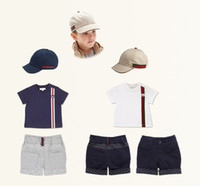 Boys Brand sets 3pieces T- shirt+ shorts+ hat baby summer suits...