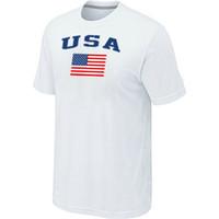 Men Bamboo Fiber Round 2014 Olympic Team USA Ice Hockey Winter Olympics USA Flag Locker Room T-Shirt White Jerseys Cheaper clothes