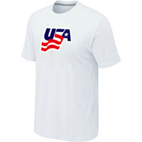 Men Bamboo Fiber Round 2014 Olympic Team USA Ice Hockey Winter Olympics Graphic Legend Locker Room T-Shirt White Jerseys Cheaper clothes