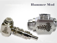 Wholesale Hammer mod from Thor Full stainless Steel with Kayfun RBA Tank Mechanical E Cig Mod Ithaka Atomizer Removable Drip tip standard thread