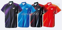 Wholesale WWholesale new butterfly men s table tennis sportswear jersey pingpong tracksuit shirt
