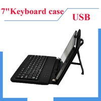 Wholesale 7 quot USB Leather Case Interface Keyboard for Android MID Tablet PC q88 PRO A23 VIA Dual core Sim camera