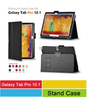 Wholesale Premium Quality PU Leather Cover Stand Cases For Samsung Galaxy Note Pro P900 Tab3 Lite T110 Tab Pro T320 T520 Tablet Bags