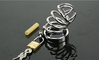 """Cheap 44.4mm (1.75 """")Brand New 100% High Quality Small stainless steel chastity device cage 5 ring selection Fast shipping"""