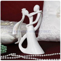 Wholesale Bride amp Groom Ceramic Figurine Wedding Cake Topper for Wedding Decoration Party Ceremony Supplies