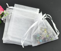 Wholesale White Organza Jewelry Gift Pouch Bags x16cm Drawstring Bag