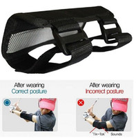 Wholesale 10pcs Golf Swing Training Straight Practice Golf Elbow Brace Corrector Support Arc Golf training aids