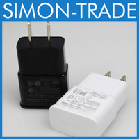 Wholesale EU US USB Wall Charger V A Travel AC Wall Charger Adapter for Samsung galaxy note N7000 I9220 N7100 note n9000 White Color
